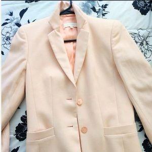 Vtg ESCADA Baby Pink CASHMERE & SILK Blazer Italy